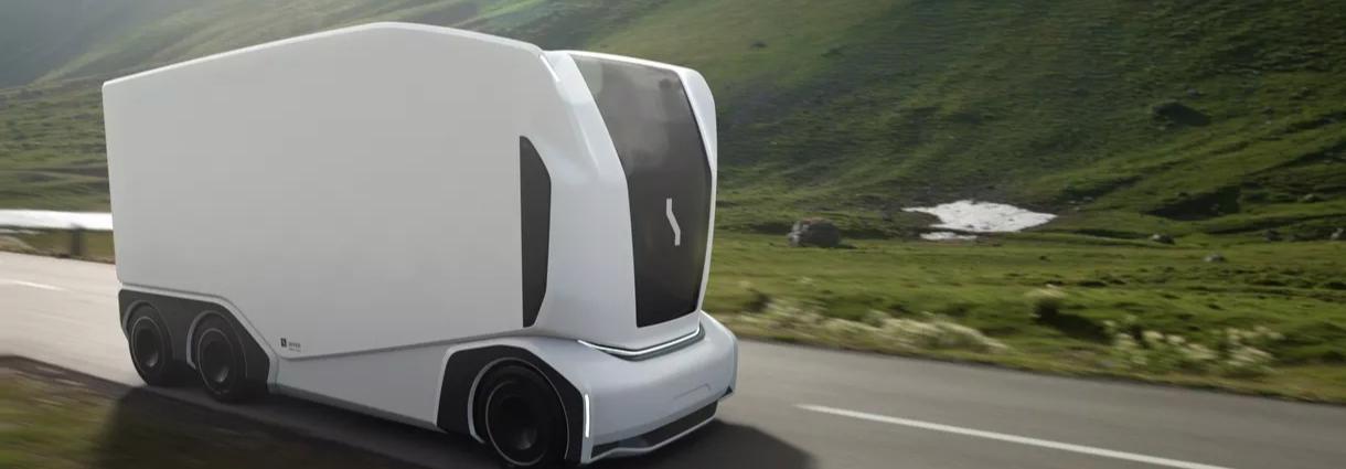 Xe tải chạy bằng điện, không vô lăng, không người lái, không cabin