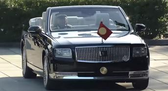 Toyota Century mui trần xuất hiện trong lễ kế vị Nhật Hoàng Naruhito