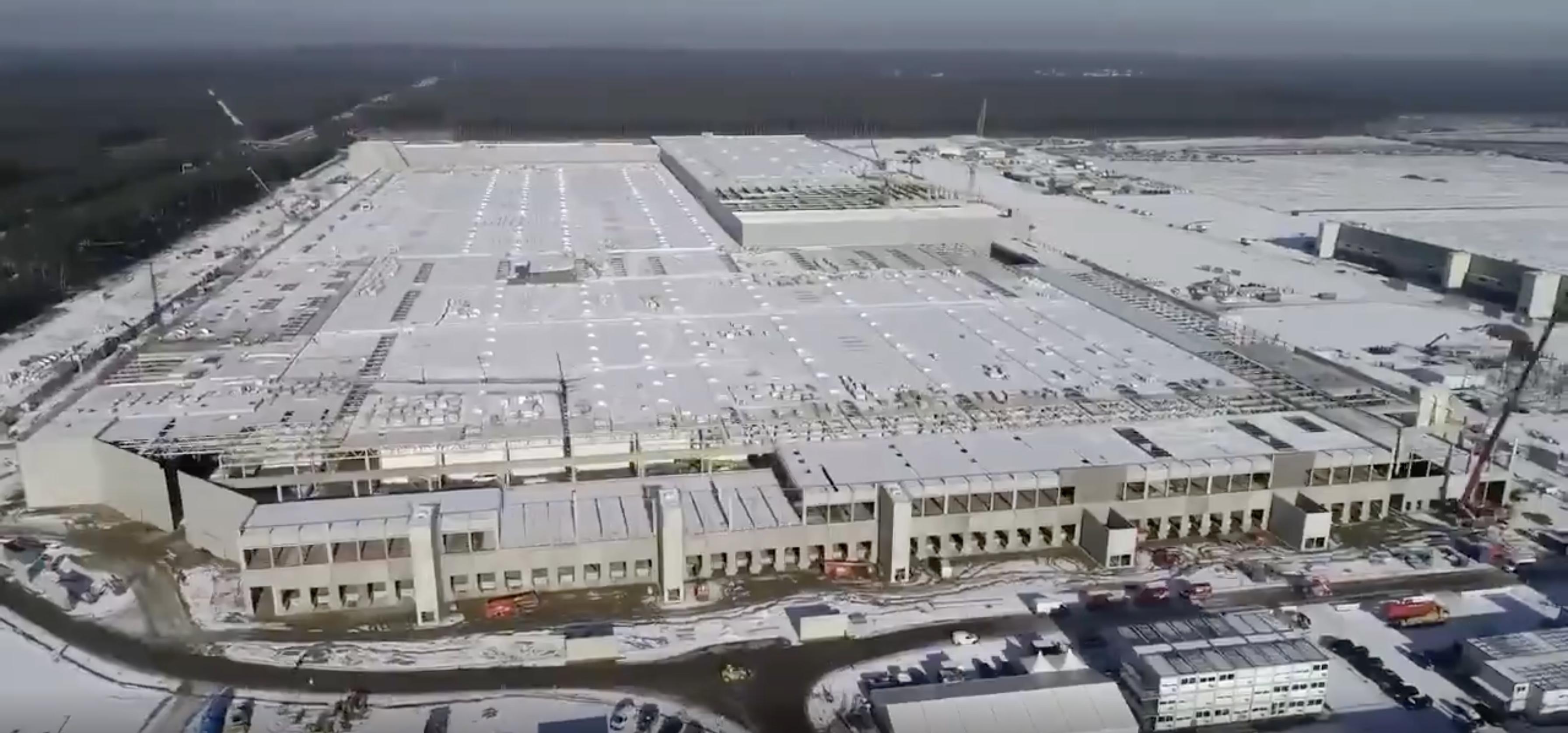 Hình ảnh nhà máy Tesla tại Đức.