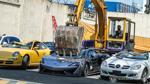 Philippines phá hủy hàng loạt siêu xe, cả xe hiếm McLaren 620R