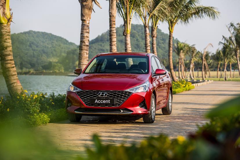 Hyundai Accent tiếp tục là mẫu xe Hyundai bán chạy nhất với 1.799 xe bán ra.