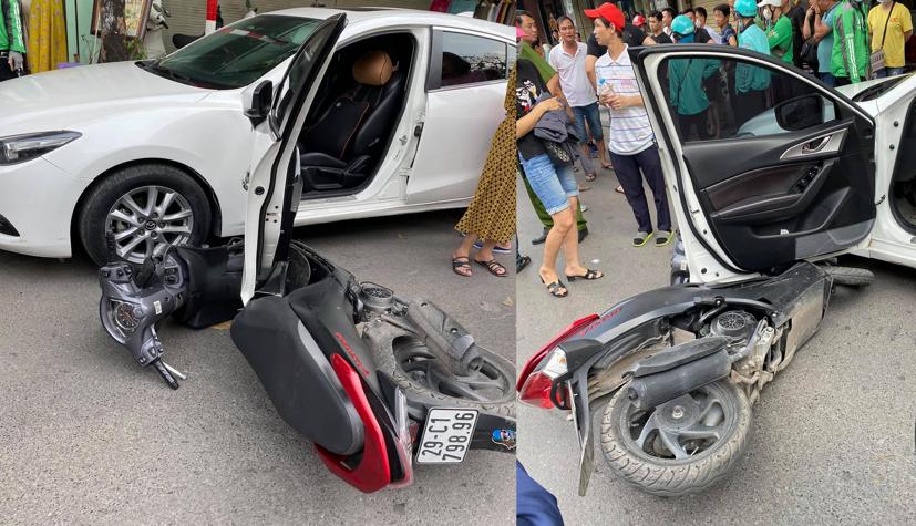 Một vụ tai nạn được cho là do mở cửa ô tô bất cẩn mới đây tại Hà Nội. Nguồn: MXH Giao thông.
