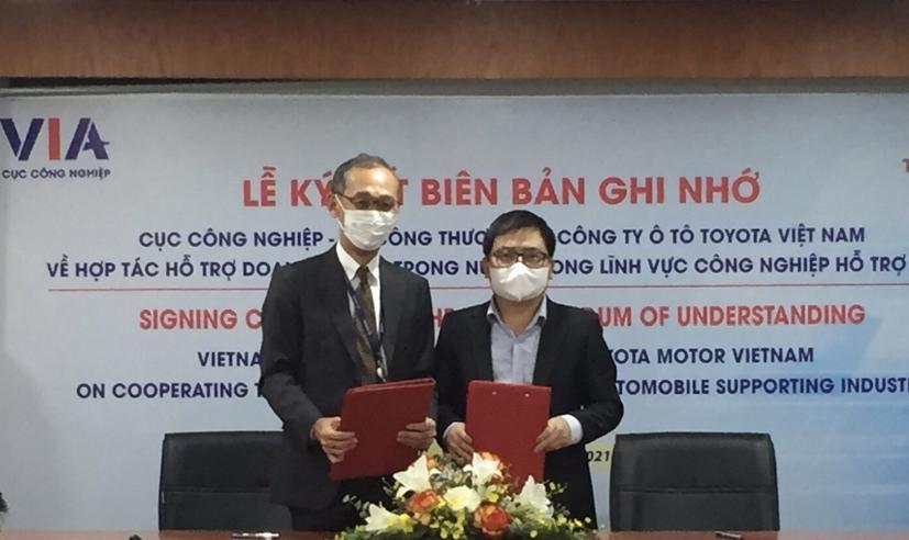 Công ty Ô tô Toyota Việt Nam và Cục Công Nghiệp - Bộ Công Thương vừa ký kết Biên bản ghi nhớ Dự án Hợp tác hỗ trợ doanh nghiệp trong nước