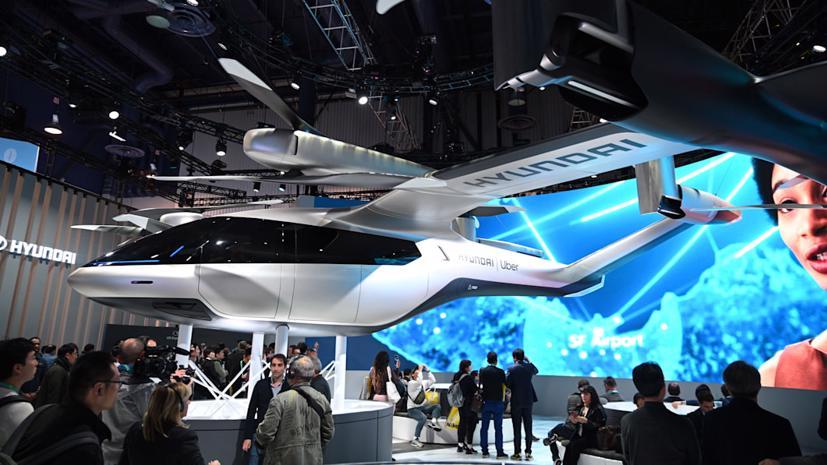Mẫu concept Hyundai S-A1 được trưng bày tại Triển lãm Điện tử Tiêu dùng (CES) 2020 ở Las Vegas.