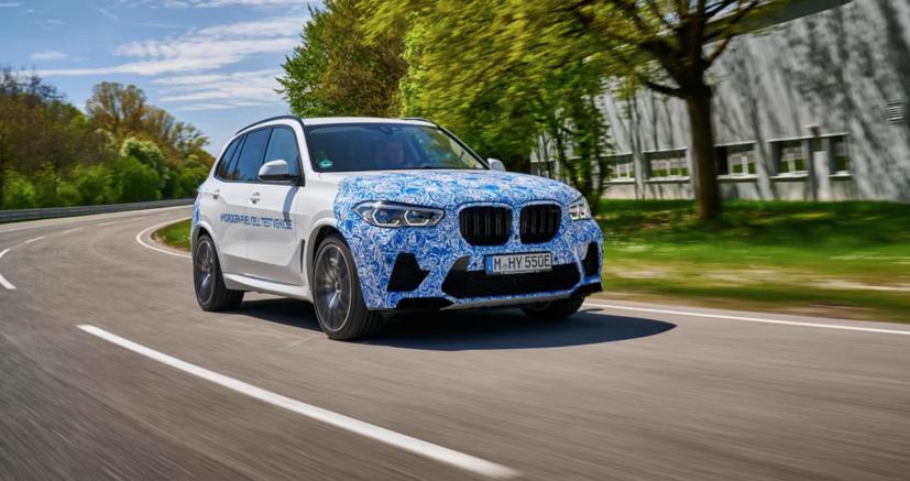 BMW i Hydrogen Next chạy pin hydro lộ diện trên đường - Ảnh 2