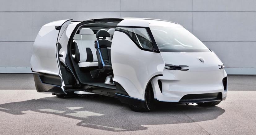 Porsche tung thiết kế nội thất mẫu xe van điện Vision Renndienst tương lai - Ảnh 4