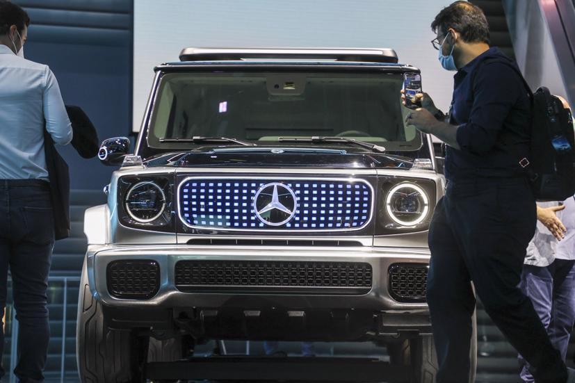 Concept Mercedes-BenzEQG electric SUV.