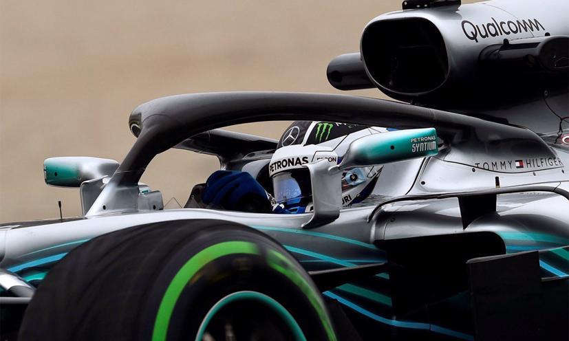Halo trên xe đua của Mercedes AMG Pertronas. Ảnh:F1.